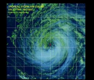 Multispektrale Satelittenaufnahme (Quelle: JTWC)
